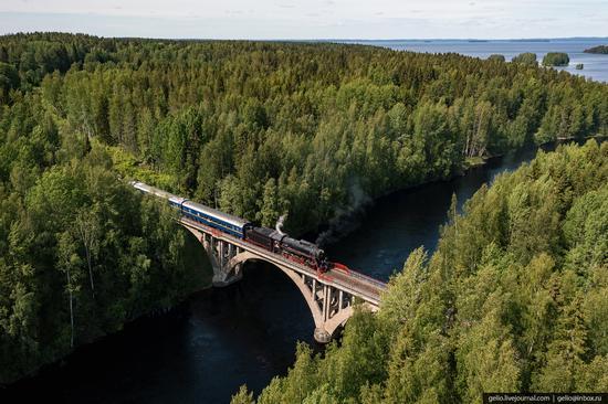 Ruskeala Express - a unique retro train in Karelia, Russia, photo 12