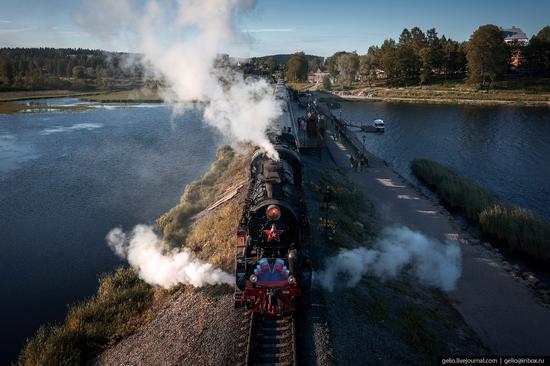 Ruskeala Express - a unique retro train in Karelia, Russia, photo 14