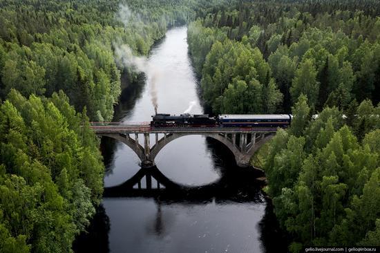 Ruskeala Express - a unique retro train in Karelia, Russia, photo 15