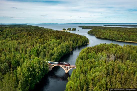 Ruskeala Express - a unique retro train in Karelia, Russia, photo 6