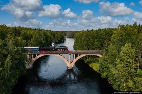 Ruskeala Express - a unique retro train in Karelia, Russia, photo 7