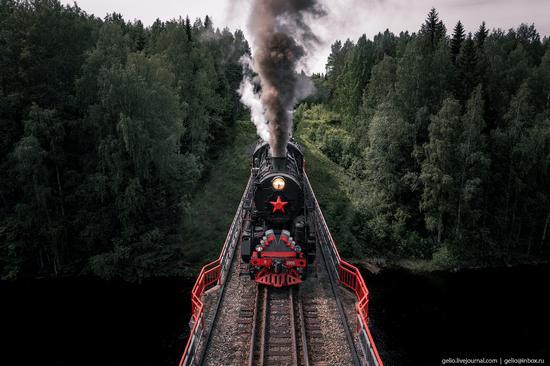 Ruskeala Express - a unique retro train in Karelia, Russia, photo 8
