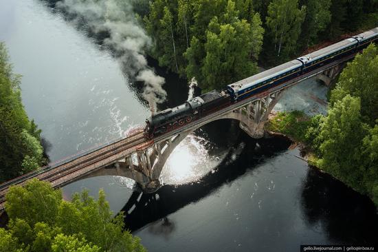 Ruskeala Express - a unique retro train in Karelia, Russia, photo 9