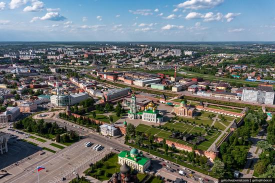 Tula city, Russia from above, photo 1
