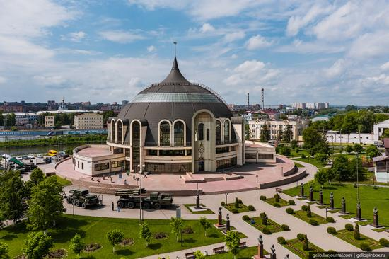Tula city, Russia from above, photo 12