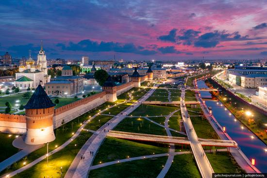 Tula city, Russia from above, photo 7