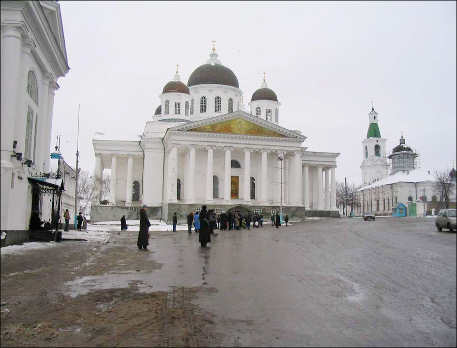 Arzamas city, Russia - Voskresensky cathedral view