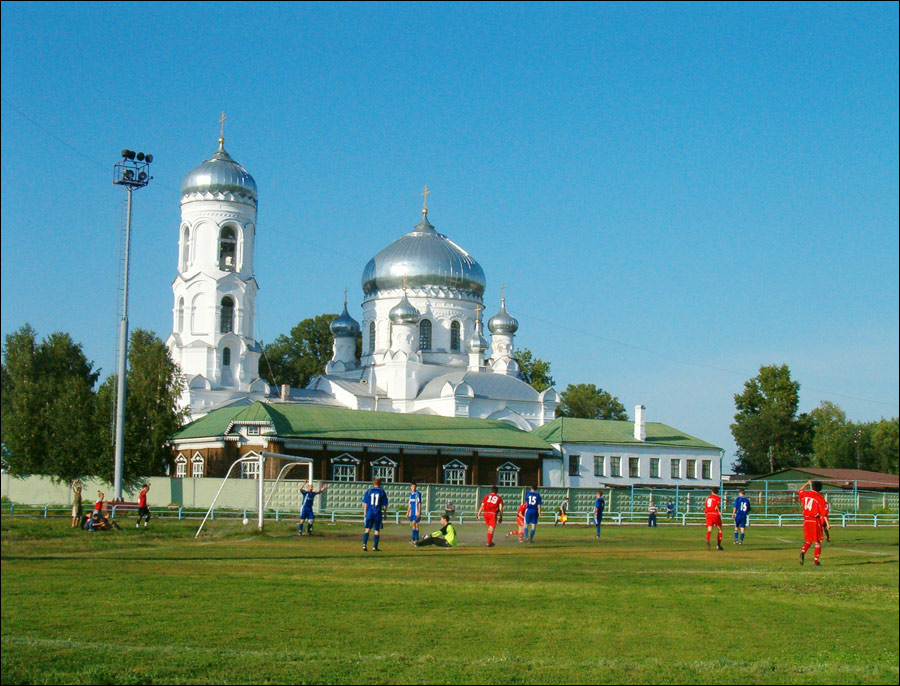 Biysk city, Russia cathedral view