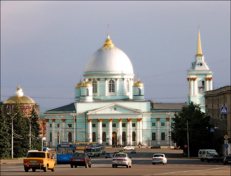 Kursk city, Russia cathedral view