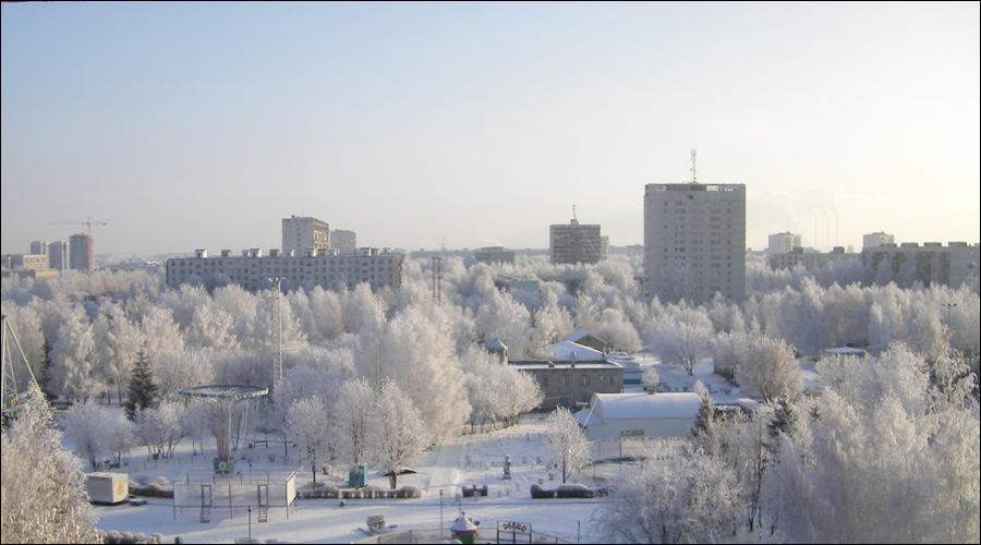Naberezhnye Chelny city, Russia winter view