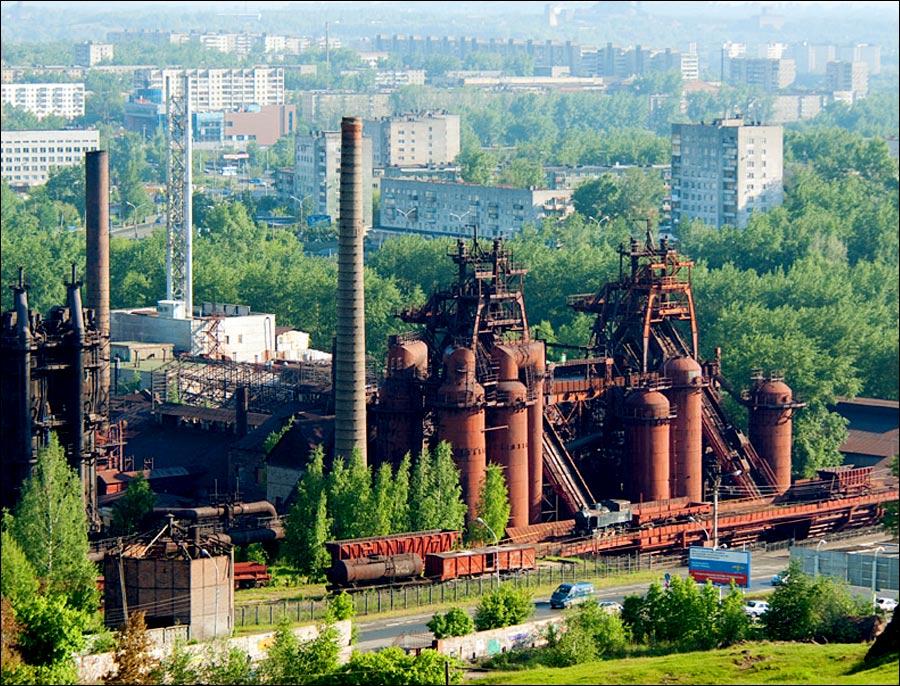 Nizhny Tagil city, Russia factory museum view