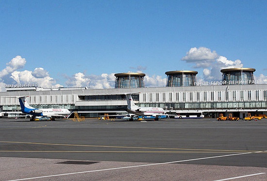 Pulkovo airport, Saint-Petersburg city, Russia