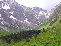 Mountain valley in North Ossetia