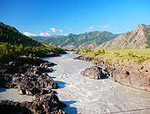 Altai region mountain river