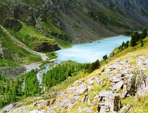 Small mountain lake in Altai Republic