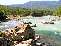 River rapids in Altai