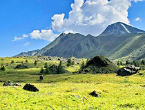 Mountain landscape in Altai