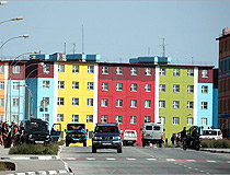 Colorful building in Anadyr