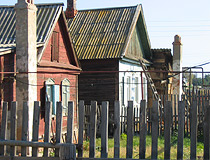 Old wooden houses in Astrakhan