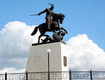 Monument to Prince Svyatoslav victory over Khazar Khanate
