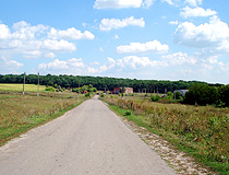 Rural road in the Belgorod region