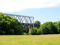 Railway bridge in Belgorodskaya oblast