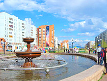 Bratsk fountain