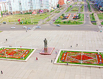 Lenin Square in Bratsk
