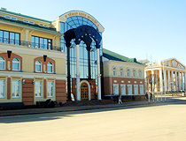 Chuvash National Museum and the Drama Theater in Cheboksary