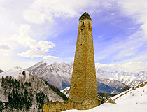 Watch tower in the Chechen Republic
