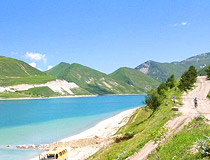 Mountain lake in Chechnya