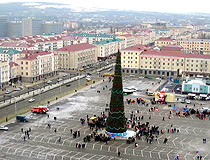 The central square in Grozny