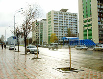 On the street in the restored Grozny