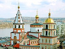 The Cathedral of the Epiphany in Irkutsk