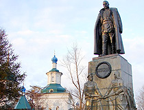 Kolchak monument in Irkutsk