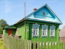 Typical village house in the Ivanovo region