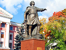 Monument to Peter the Great in Kaliningrad