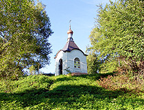 Orthodox chapel in Kaluga oblast