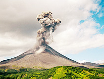 The volcanic eruption in Kamchatka