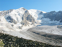 Glacier in the mountains of Karachay-Cherkessia