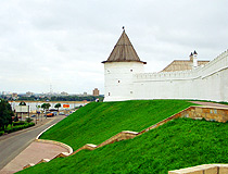 The wall of Kazan Kremlin