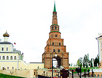 Ancient Suyumbika tower in Kazan