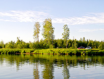 Rest on the lake in Yugra