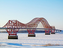 Red Dragon bridge in Khanty-Mansiysk