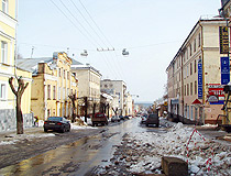 One of the streets in Kirov