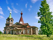Wooden church in Kirov oblast