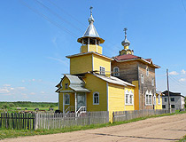 Wooden church in the Komi region