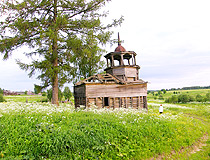 Abandoned wooden church in the Komi Republic
