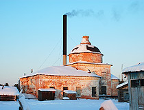 Former church used as a boiler house in the Komi Republic