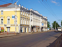 On the street in Kostroma